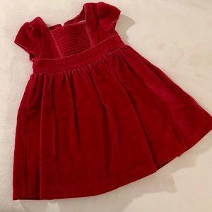 Baby Gap Toddler Red Velvet Dress